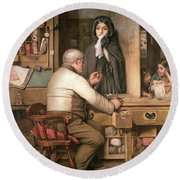 At The Pawnbroker Round Beach Towel by Thomas Reynolds Lamont