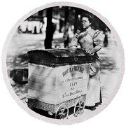 Atget: Delivering Bread Round Beach Towel