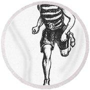 Athletics: Runner, C1900 Round Beach Towel