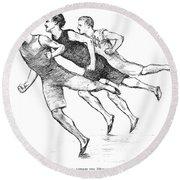 Athletics: Track, 1890 Round Beach Towel