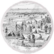 Atlantic City, 1890 Round Beach Towel
