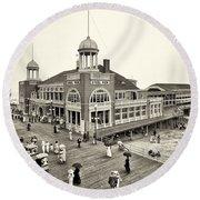 Atlantic City Steel Pier 1910 Round Beach Towel
