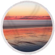 Atlantic Dawn Round Beach Towel