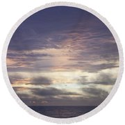 Atlantic Ocean Sunrise 1 Round Beach Towel