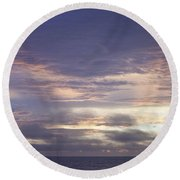 Atlantic Ocean Sunrise 2 Round Beach Towel