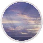 Atlantic Ocean Sunrise 3 Round Beach Towel