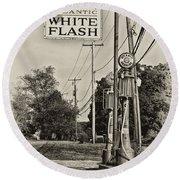 Atlantic White Flash Round Beach Towel