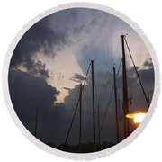 Atmospheric Phenomenon Round Beach Towel