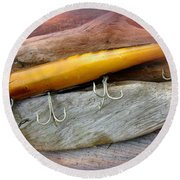 Atom A40 Vintage Saltwater Lure - Whiting Gold Round Beach Towel