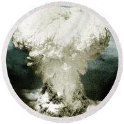 Atomic Bombing Of Nagasaki Round Beach Towel