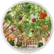 Atrium At The Wynn 2 Round Beach Towel