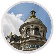 Au Printemps - Paris Round Beach Towel