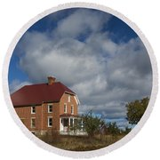Au Sable Lighthouse 2 Round Beach Towel
