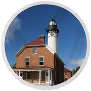 Au Sable Lighthouse 7 Round Beach Towel