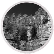 Auable Chasm 1606 Round Beach Towel