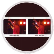Audio Outlaws - Cross Your Eyes And Focus On The Middle Image Round Beach Towel
