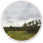 August Desert Round Beach Towel