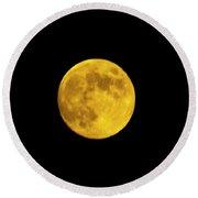 August Moon Round Beach Towel