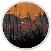 August Sunset Round Beach Towel
