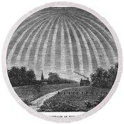 Aurora Borealis, 1837 Round Beach Towel