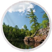 Ausable Chasm 1618 Round Beach Towel