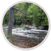 Ausable River 5252 Round Beach Towel