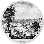 Australia: Gold Rush, 1851 Round Beach Towel