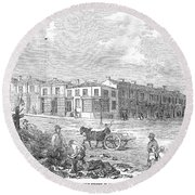 Australia: Melbourne, 1853 Round Beach Towel