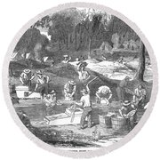 Australian Gold Rush, 1851 Round Beach Towel