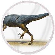 Austroraptor Cabazai, A Prehistoric Era Round Beach Towel