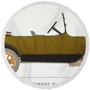 Auto: Chevrolet, 1919 Round Beach Towel