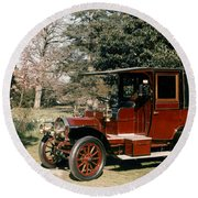 Auto: French Taxi, 1908 Round Beach Towel