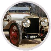 Auto: Hispano-suiza, 1912 Round Beach Towel