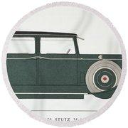 Automobile: Stutz, 1929 Round Beach Towel