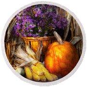 Autumn - Autumn Is Festive  Round Beach Towel