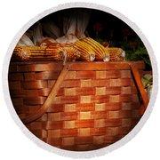 Autumn - Gourd - Fresh Corn Round Beach Towel