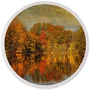 Autumn - Landscape - Tamaques Park - Autumn In Westfield Nj  Round Beach Towel
