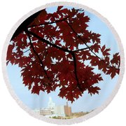 Autumn Afternoon In Peterborough Round Beach Towel