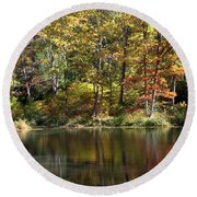 Autumn Ambience Round Beach Towel