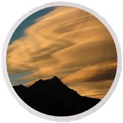 Autumn Clouds Jasper 2 Round Beach Towel