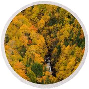 Autumn Colour And Waterfalls, Cape Round Beach Towel
