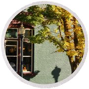 Autumn Detail In Old Town Grants Pass Round Beach Towel