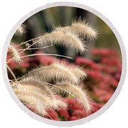 Autumn Garden Round Beach Towel