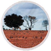 Autumn Geese Round Beach Towel by Bill Cannon