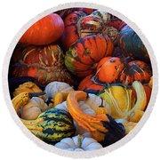 Autumn Harvest Round Beach Towel