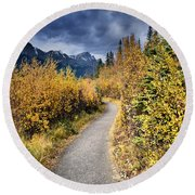 Autumn In Alberta Round Beach Towel