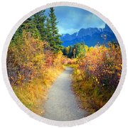 Autumn In Canada Round Beach Towel