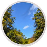 Autumn In Pennsylvania Round Beach Towel