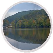 Autumn Is Approaching Round Beach Towel