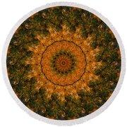 Autumn Mandala 1 Round Beach Towel